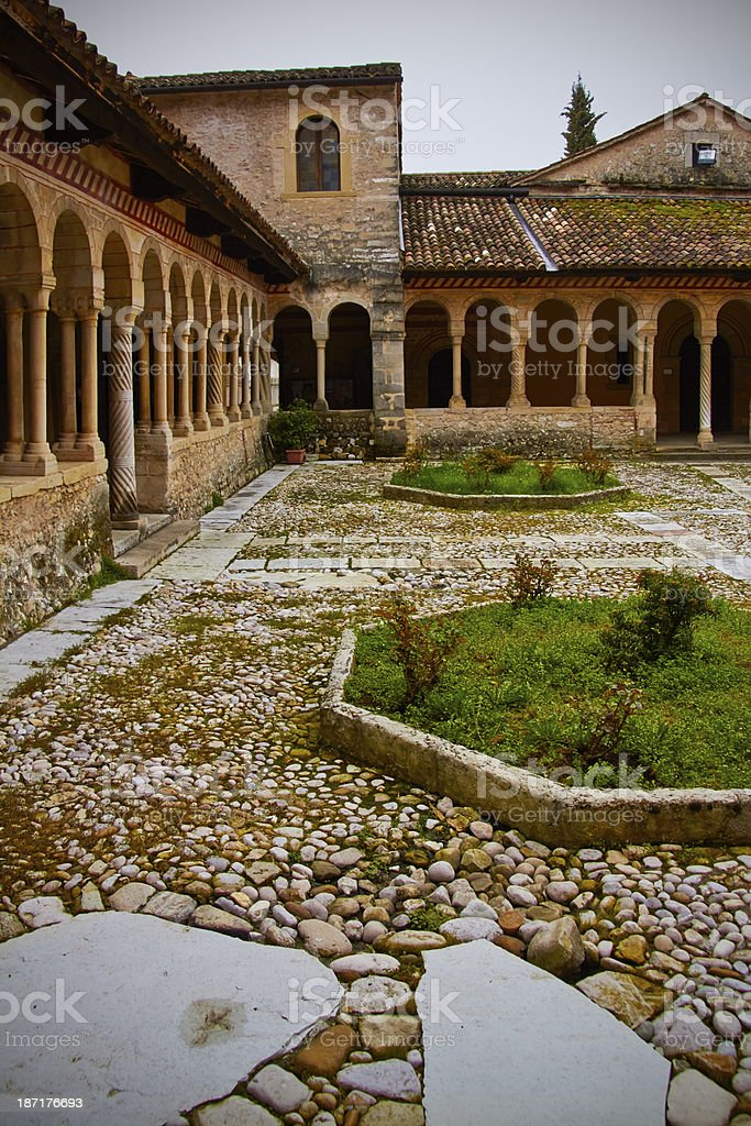 Ancient abbey in Asolo. stock photo