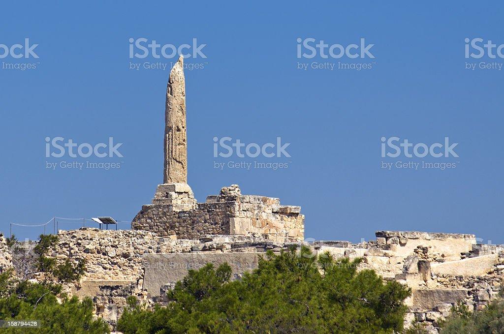 Ancient Aegina in Greece royalty-free stock photo
