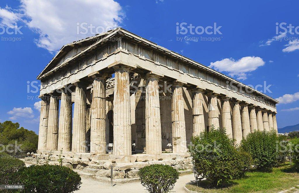 Ancient Agora at Athens, Greece royalty-free stock photo