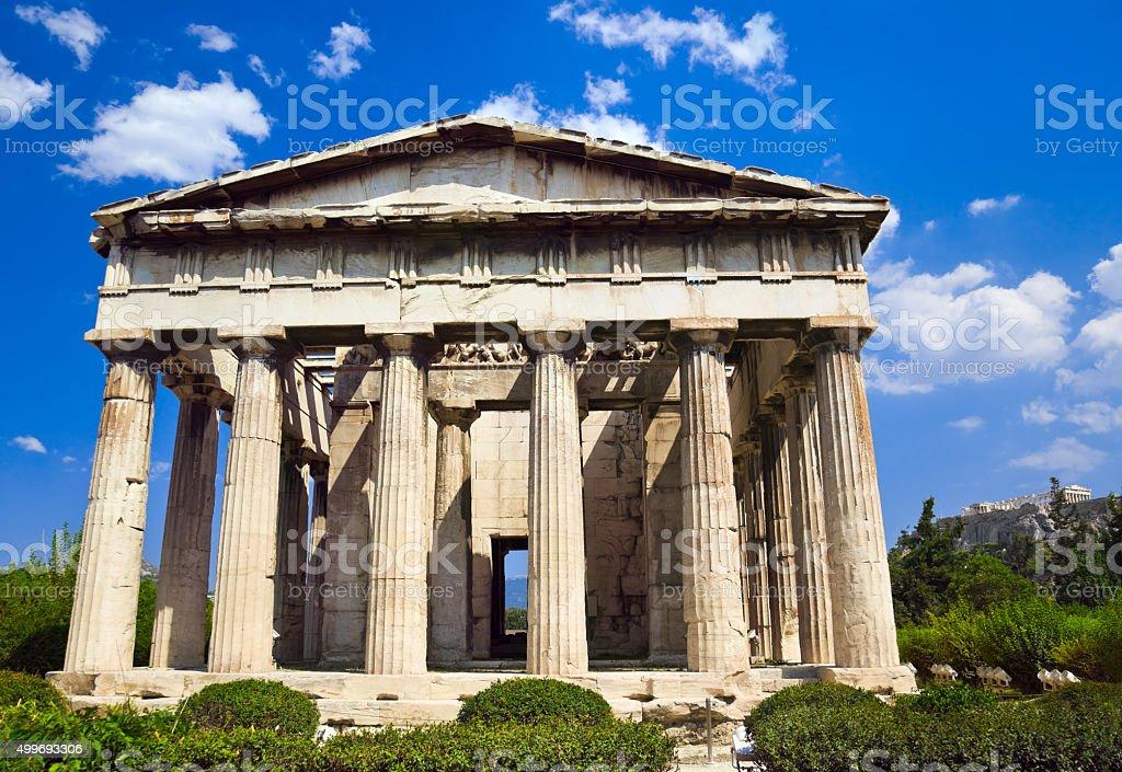 Ancient Agora at Athens, Greece stock photo