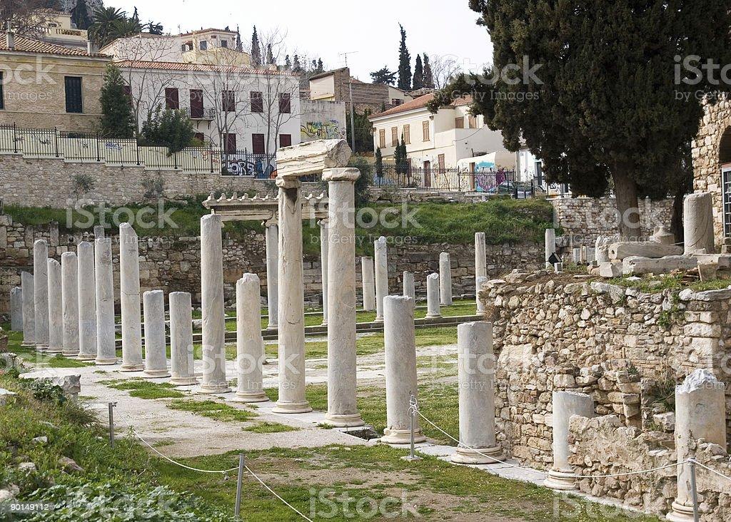 ancient agora, Athens, Greece royalty-free stock photo