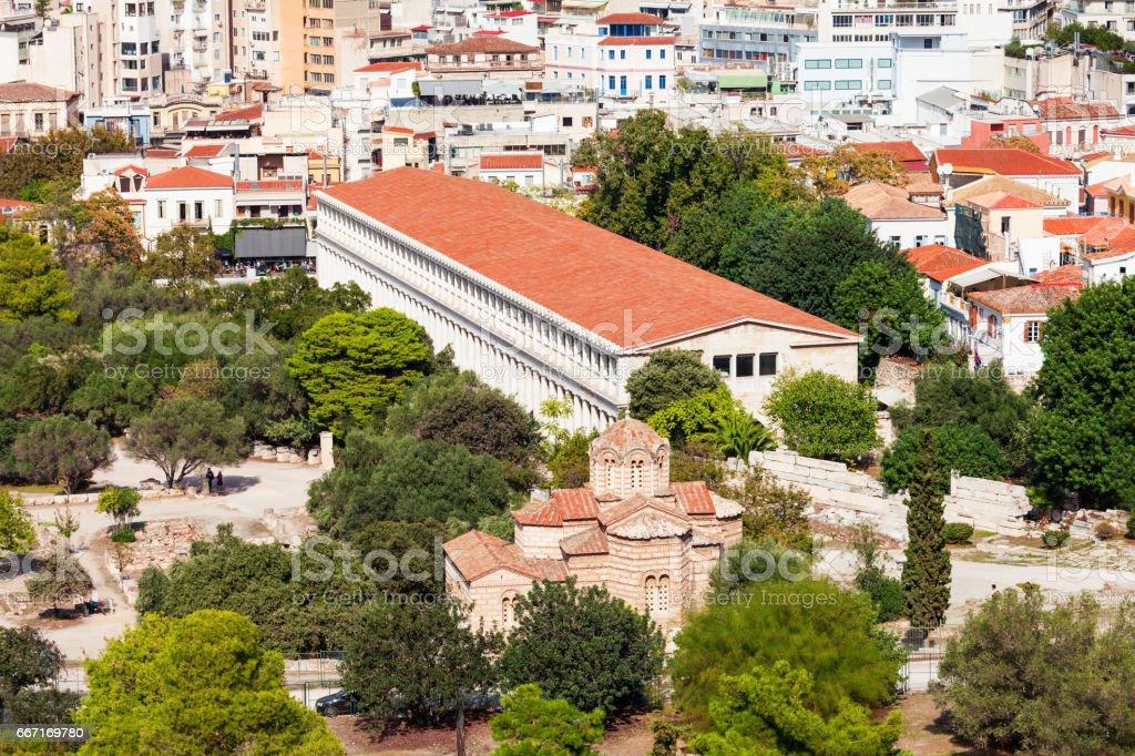 Ancient Agora in Athens stock photo