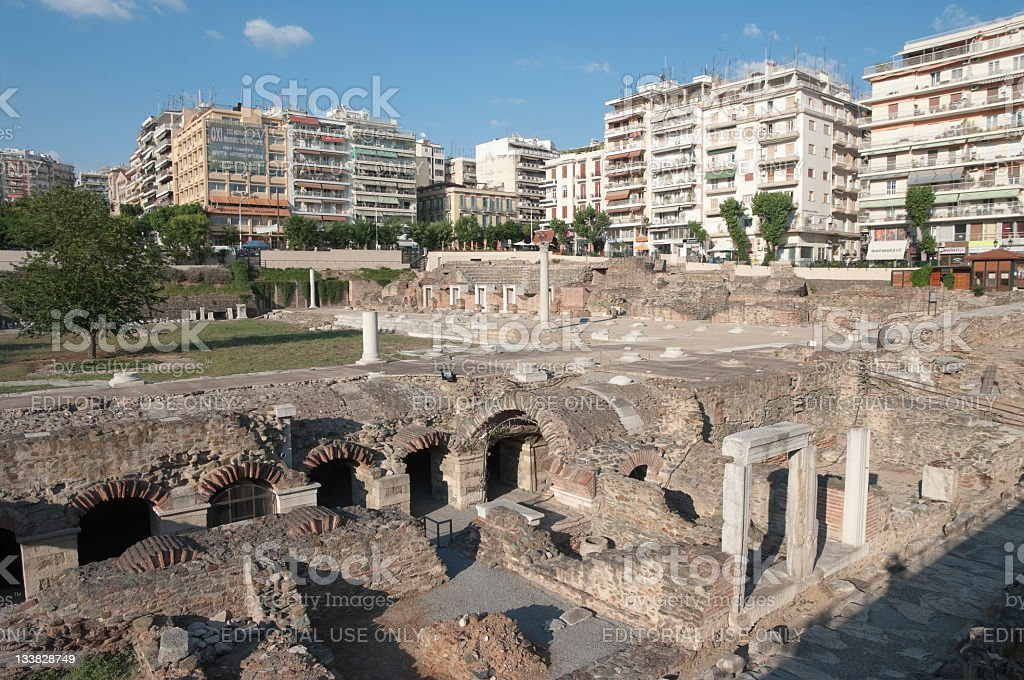 Ancient Agora In Thessaloniki, Greece stock photo