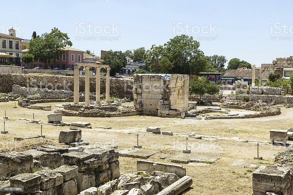 Ancient Agora of Athens stock photo