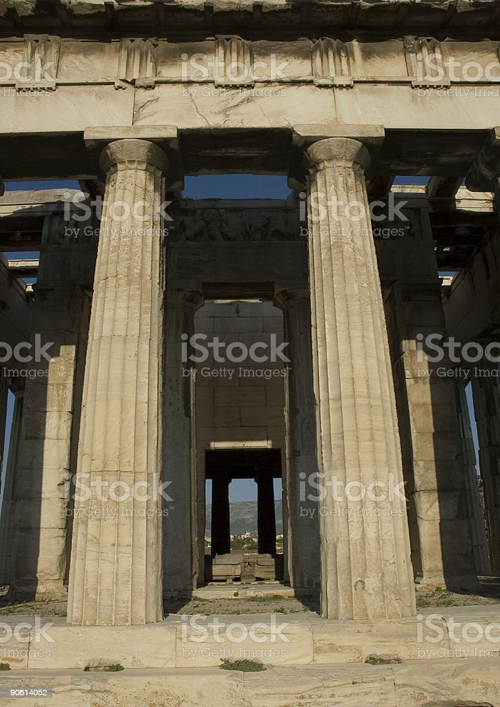 Ancient Agora Temple royalty-free stock photo