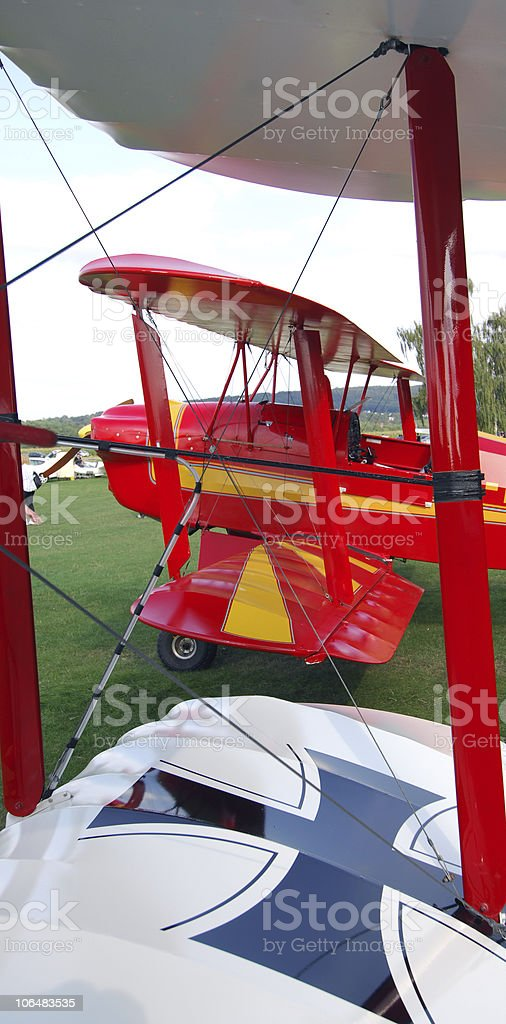 Ancient Aircraft stock photo