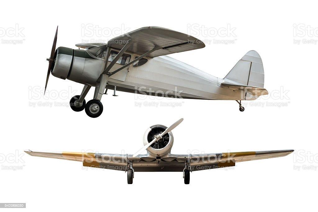 Ancient airplane stock photo