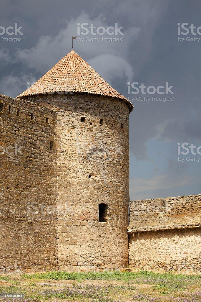 Ancient Akkerman fortress at Belgorod-Dnestrovsk y, near Odessa, royalty-free stock photo