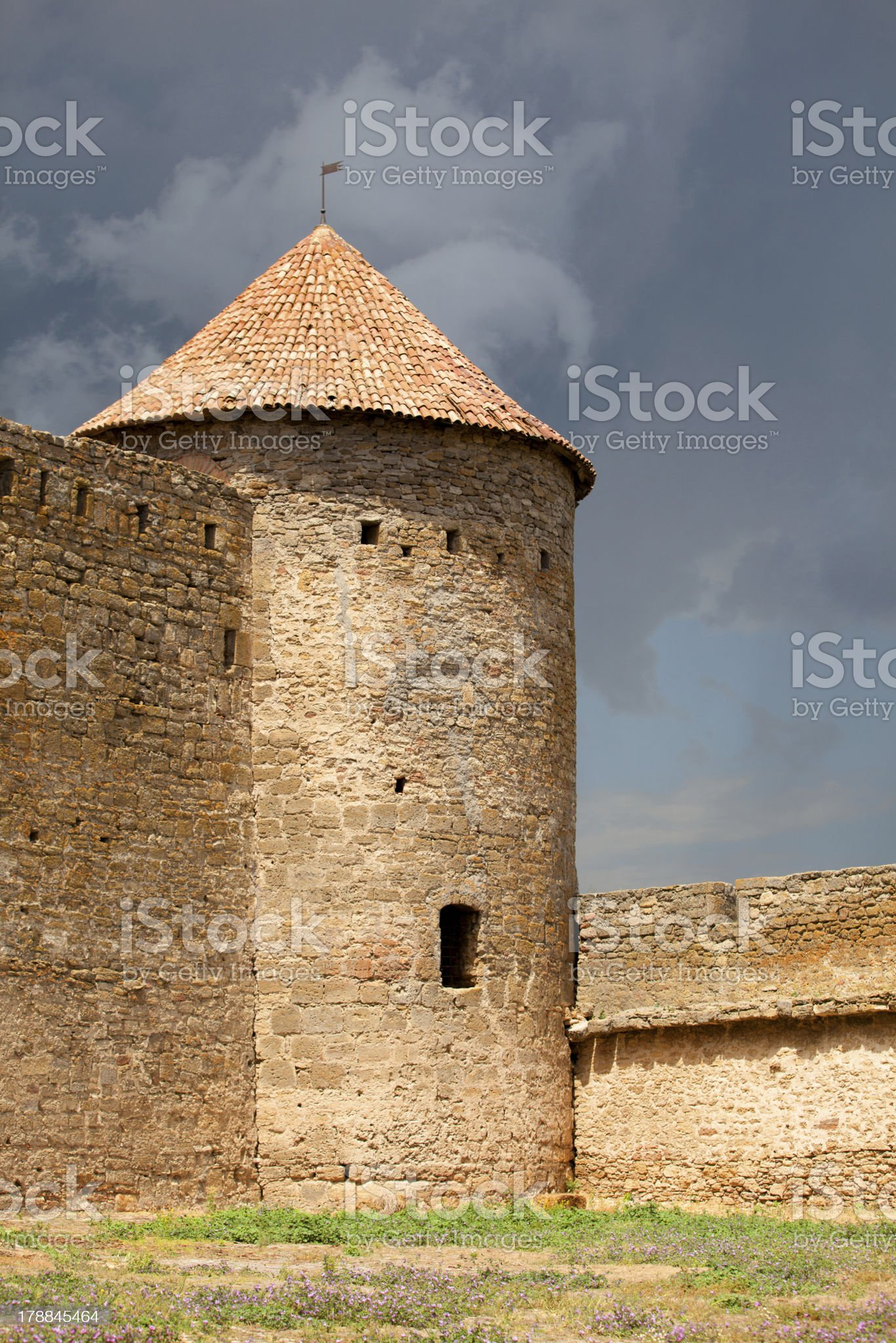 Ancient Akkerman fortress at Belgorod-Dnestrovsk y, near Odessa, royalty-free stock photo