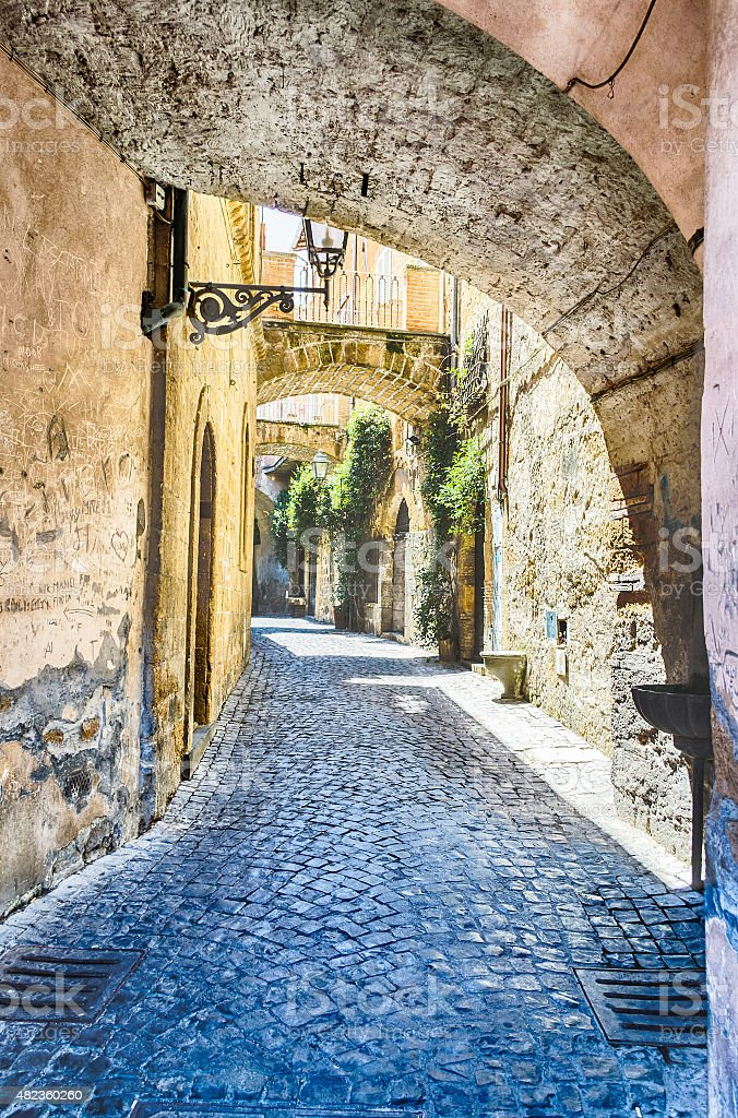 Ancient Alley stock photo