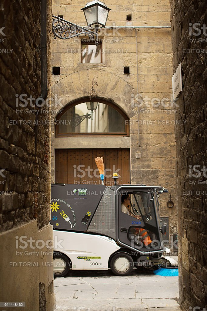 Ancient Alleys of Florence stock photo