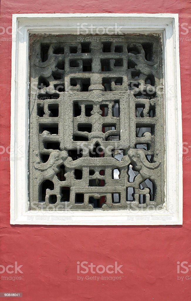 ancient ama chinese temple window macau royalty-free stock photo