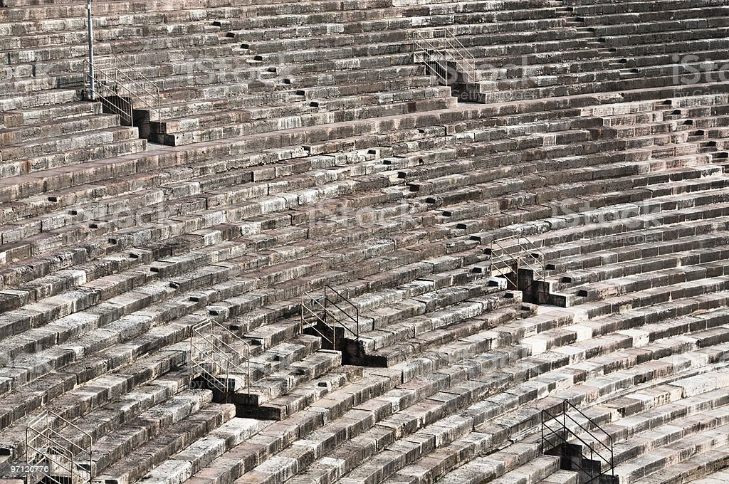 Ancient amphitheater in Italy royalty-free stock photo