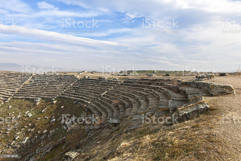 Ancient Amphitheather in Laodicea royalty-free stock photo