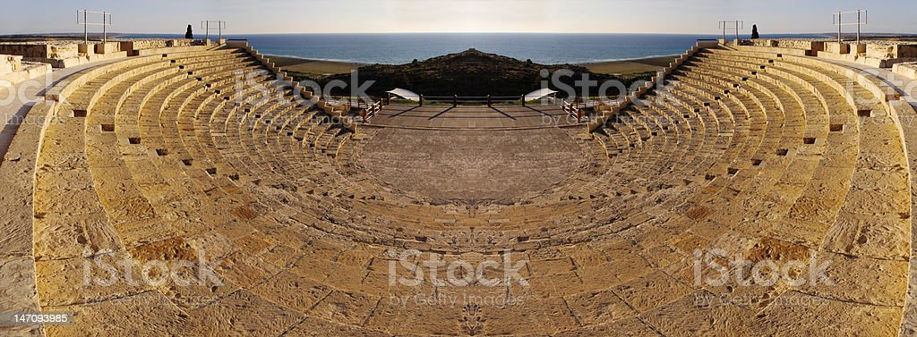 Ancient amphitheatre, mirrored royalty-free stock photo