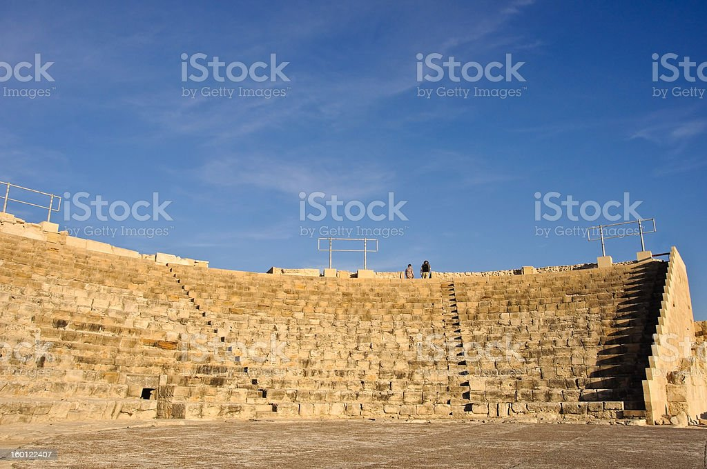 Ancient amphitheatre royalty-free stock photo
