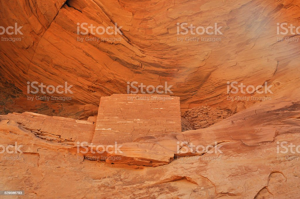 Ancient Anasazi village stock photo