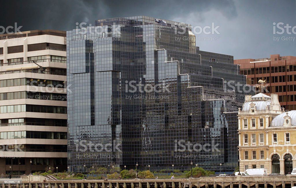 Ancient and Modern Architecture royalty-free stock photo