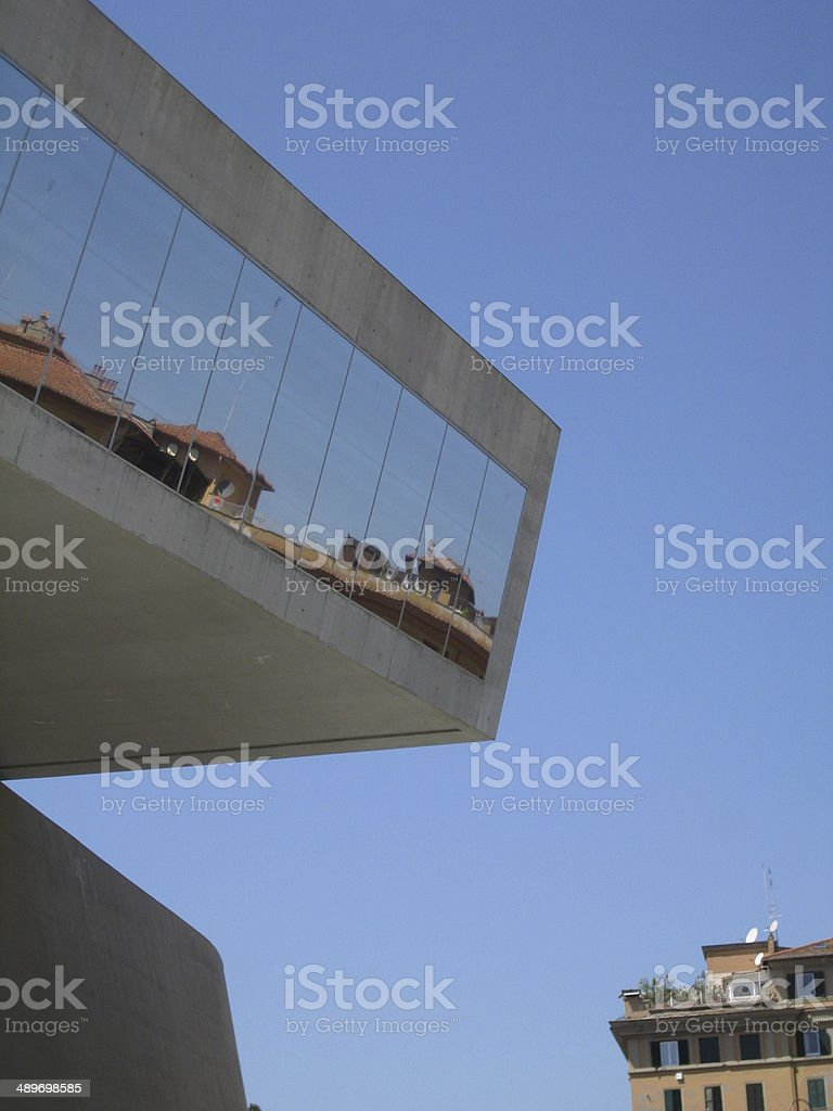 Ancient and modern Rome stock photo