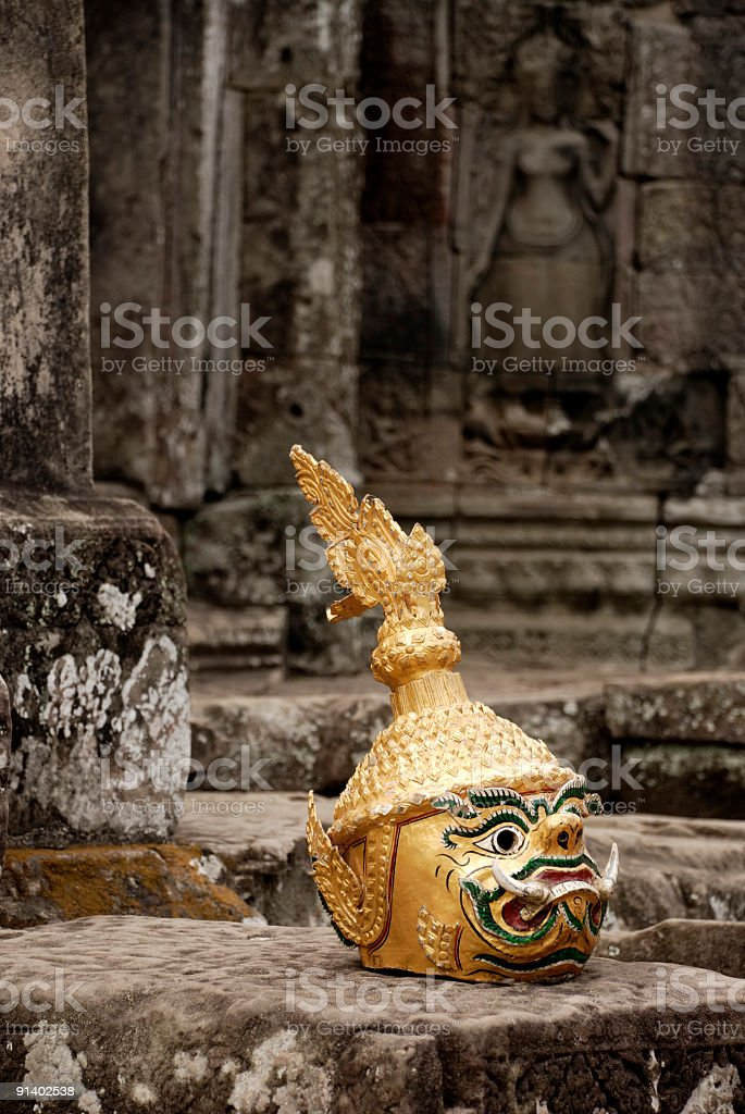 Ancient Angkor stock photo