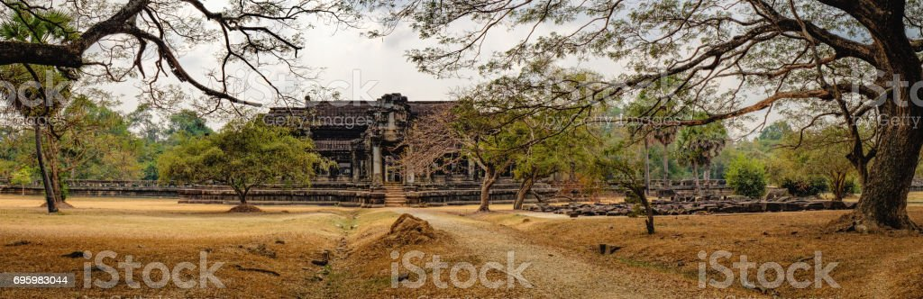 Ancient Angkor Wat in Siem Reap, Cambodia stock photo