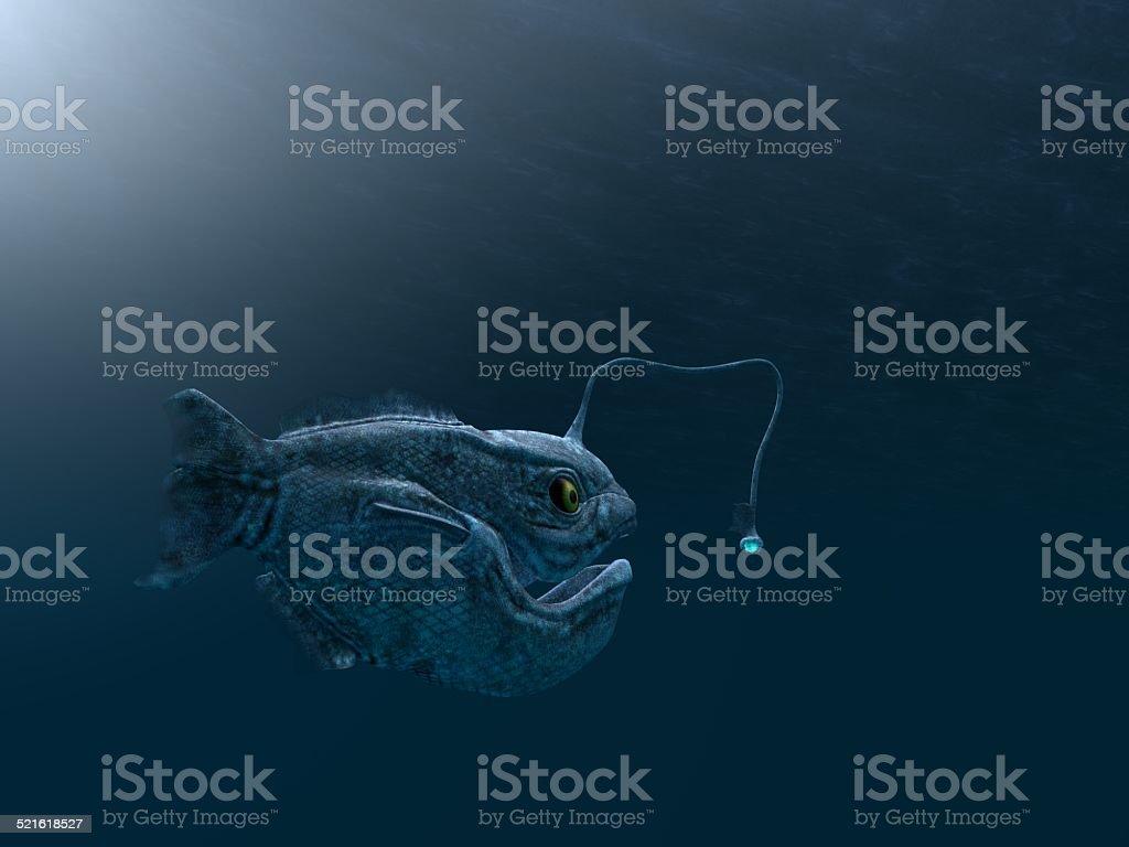 ancient angler fish stock photo