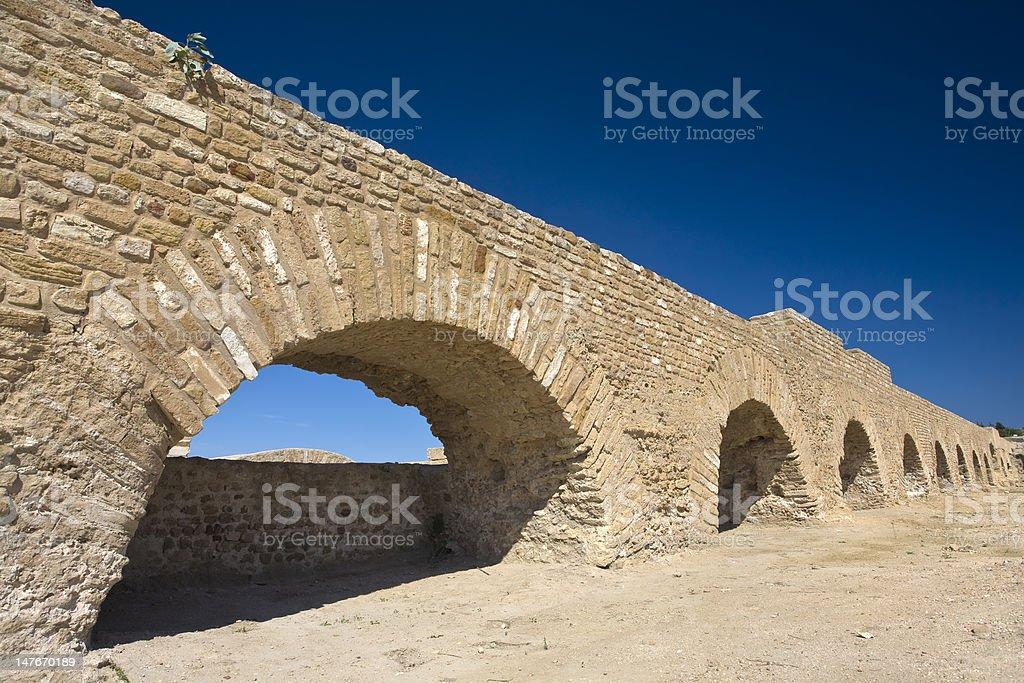 Ancient aqueduct royalty-free stock photo
