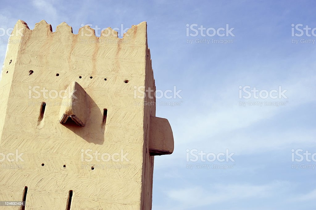 ancient arabic style tower stock photo