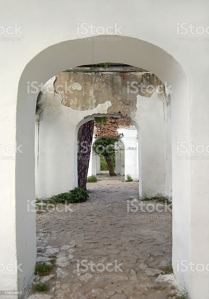 Ancient arch ruins royalty-free stock photo