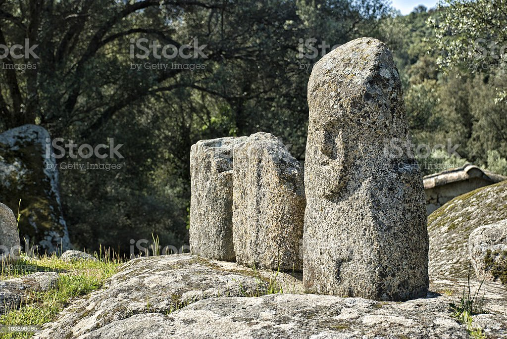 Ancient archeological site of Filitosa, Corsica (France) royalty-free stock photo