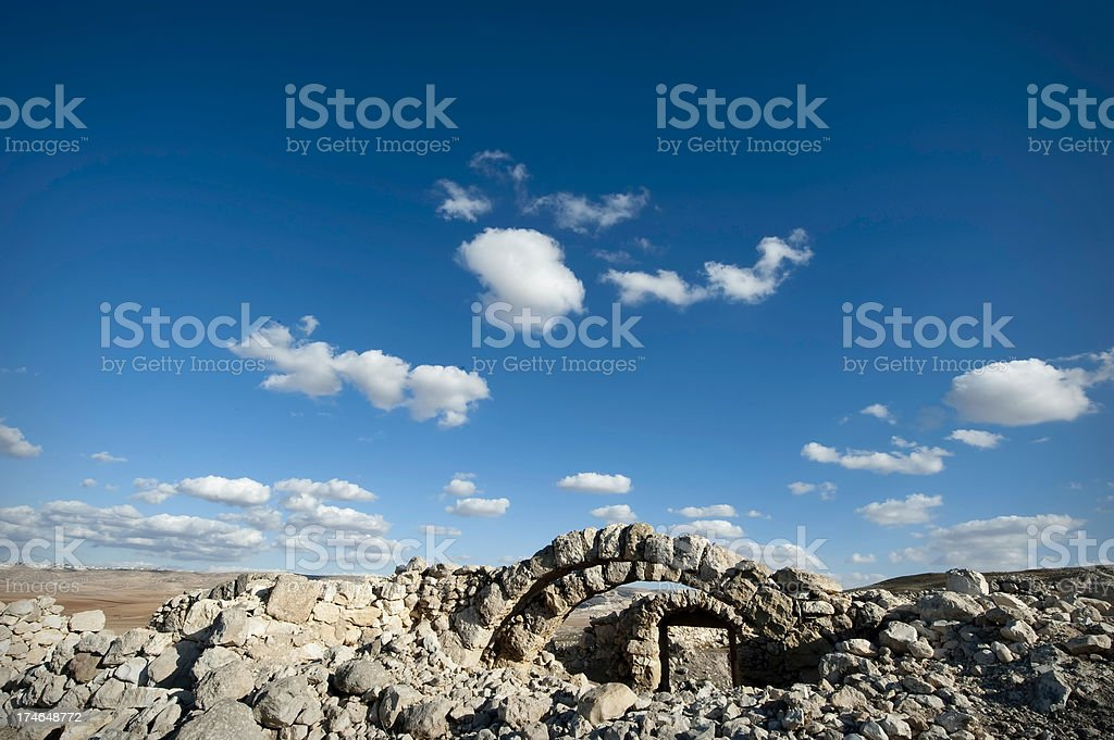 Ancient Arches and Blue Sky stock photo