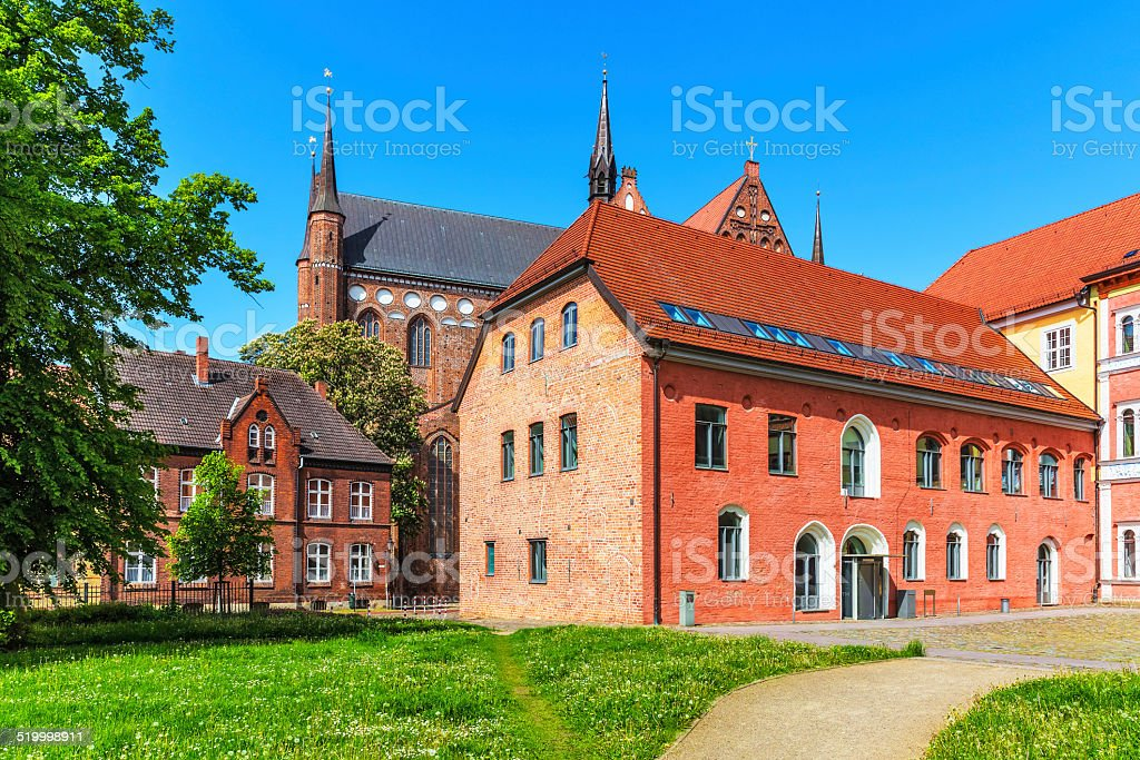 Ancient architecture in Wismar, Germany stock photo
