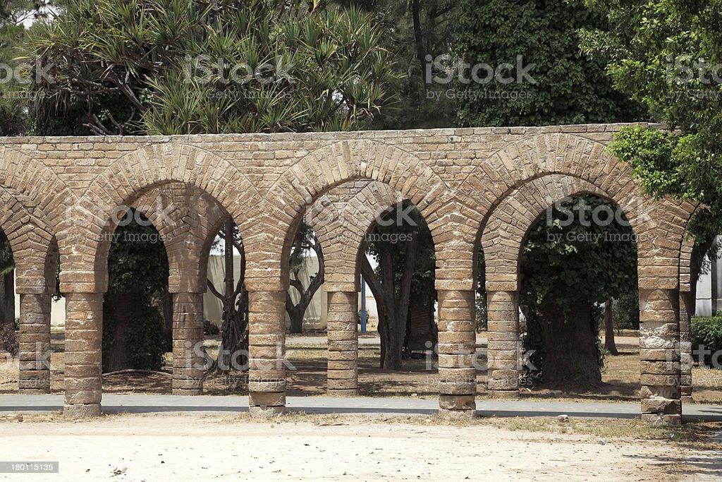 Ancient archway in Casablanca, Morocco royalty-free stock photo