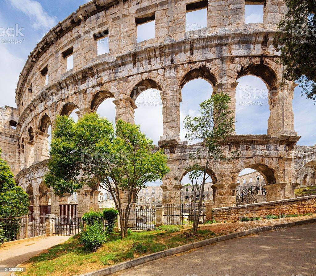 ancient arena in Pula. Croatia. stock photo