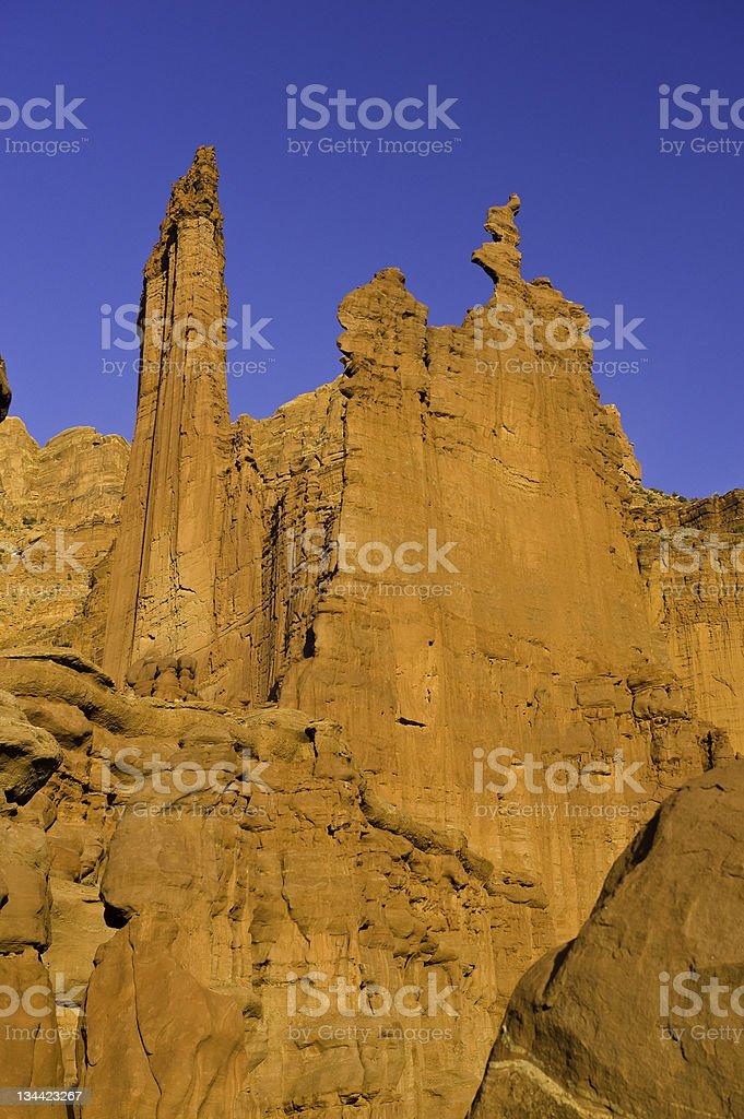 Ancient Art Fisher Towers Moab Utah royalty-free stock photo