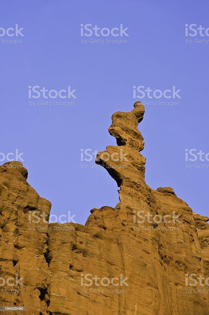 Ancient Art Rock Formation Moab Utah stock photo