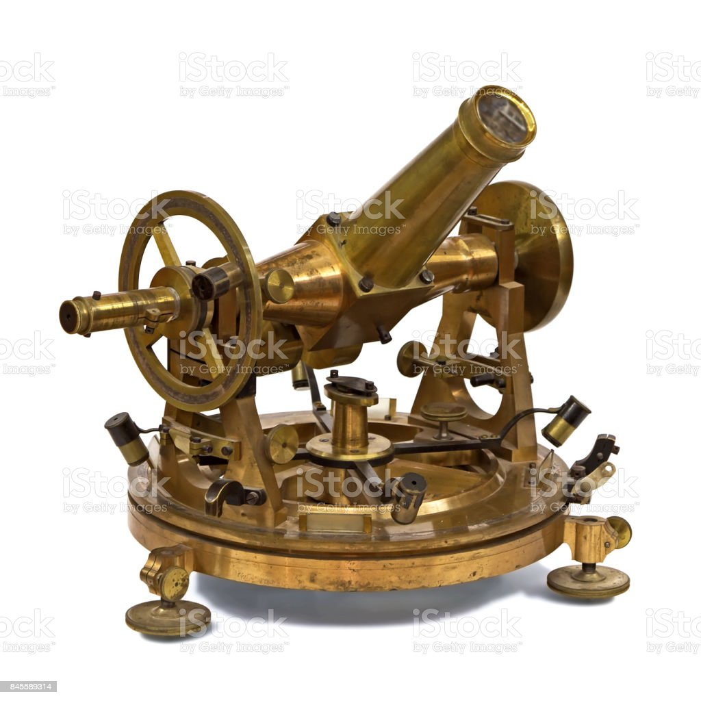 ancient astronomical and geodetic instrument stock photo