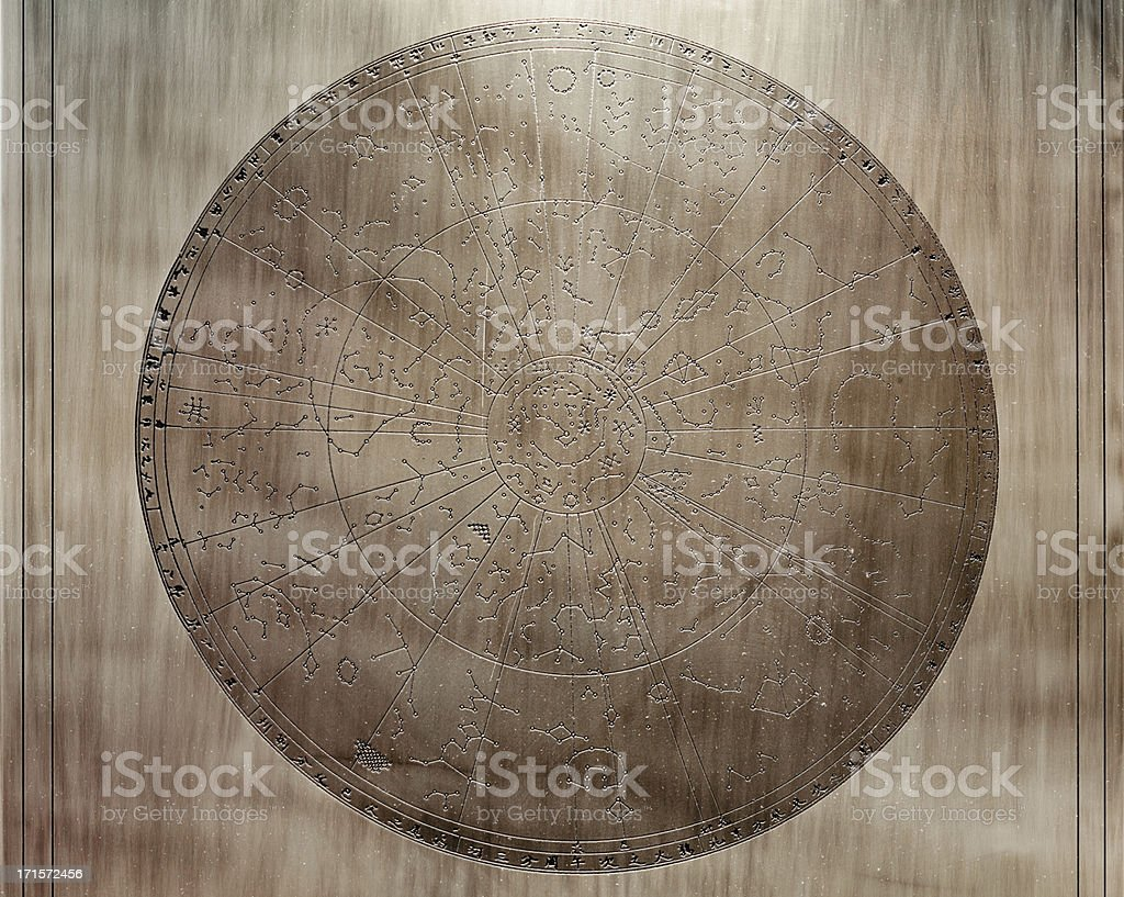 Ancient astronomical map, Beijing, China stock photo