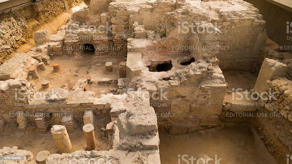 Ancient Athens in ruins, Greece stock photo