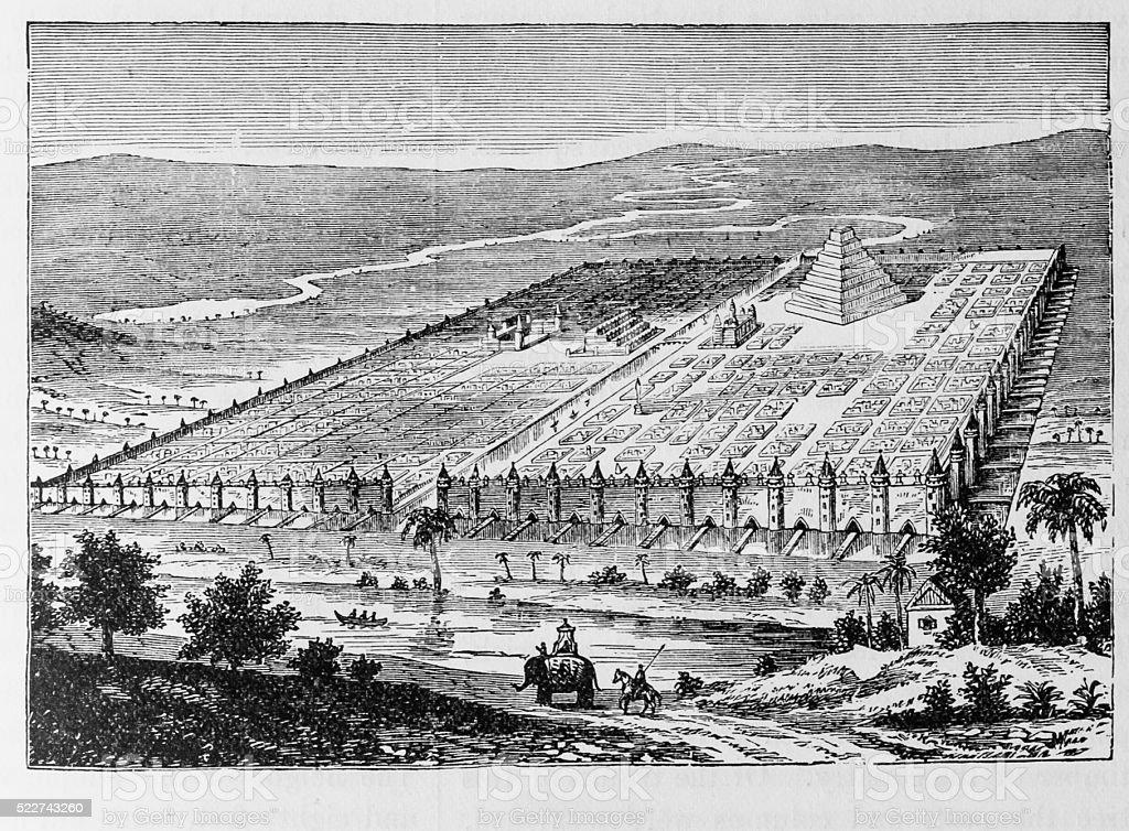 Ancient Babylon stock photo