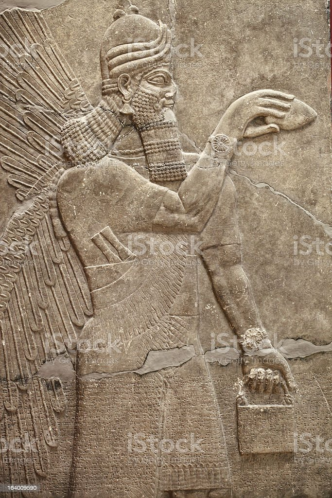 Ancient Basrelief of Hittites royalty-free stock photo