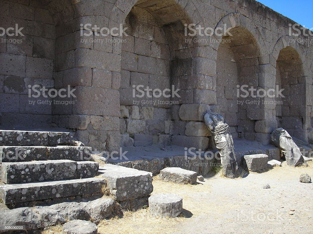 Ancient baths Asclepion in Kos stock photo