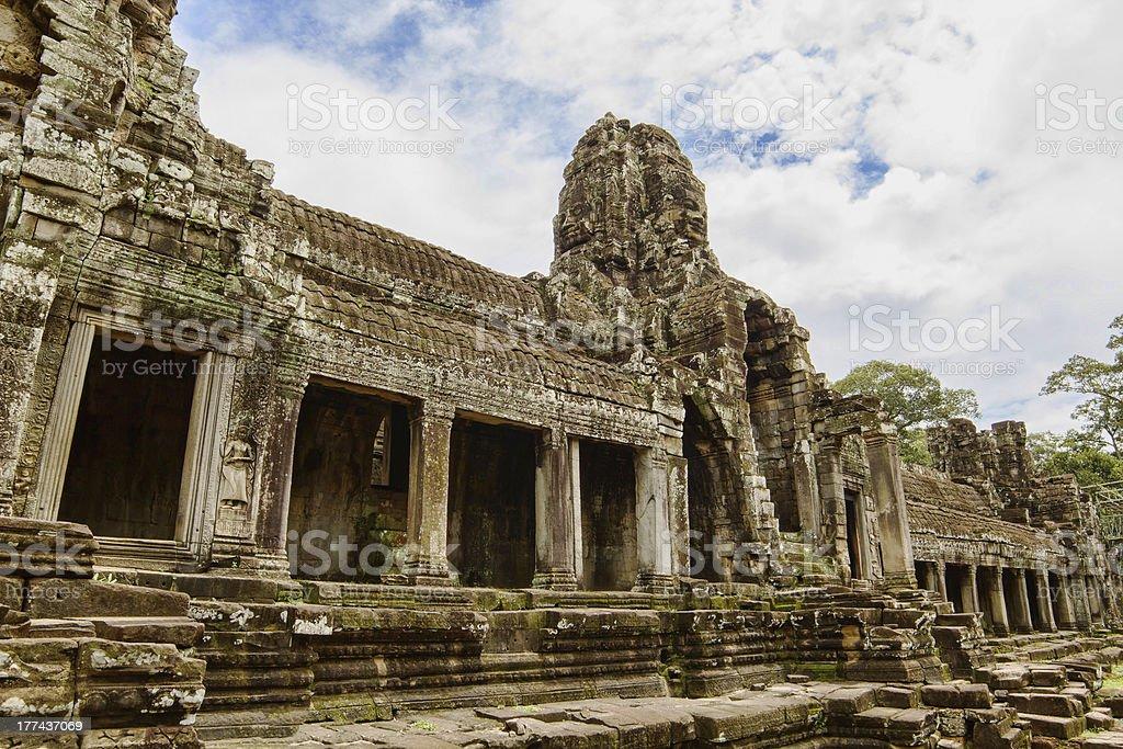 Ancient Bayon Temple stock photo