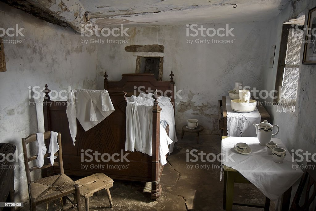 Ancient Bedroom royalty-free stock photo
