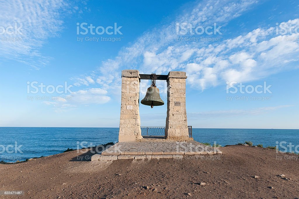 Ancient bell stock photo