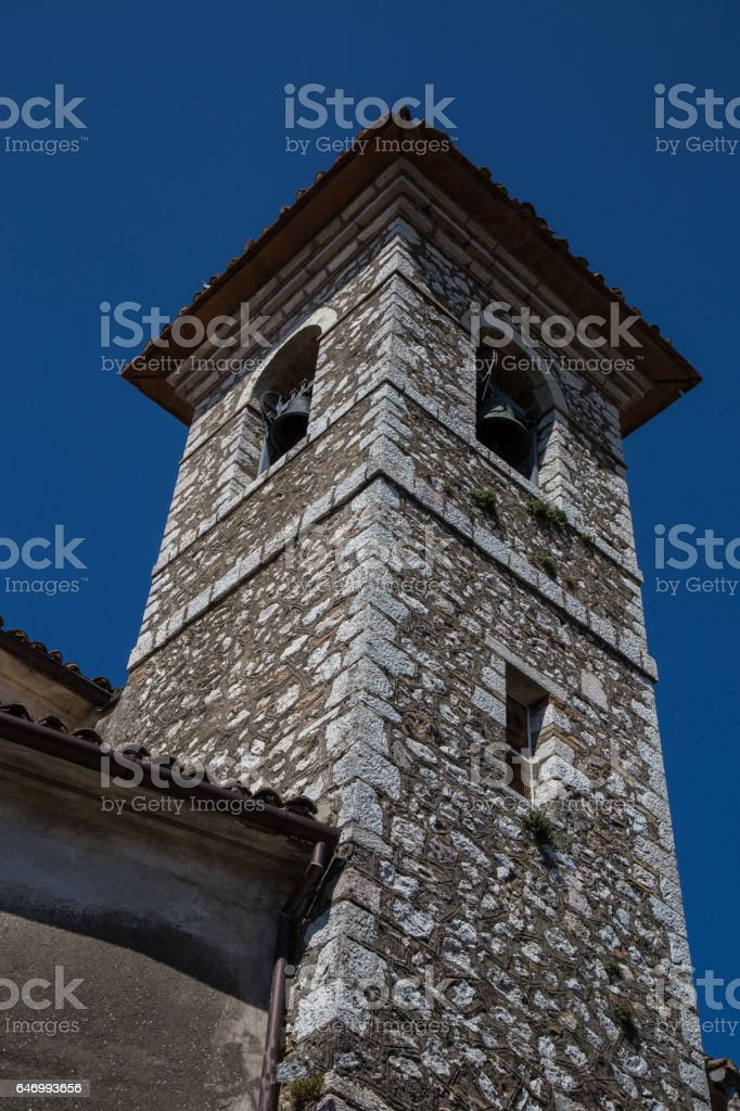 Ancient bell tower stock photo