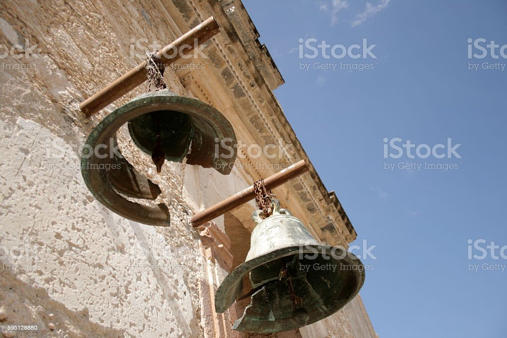 Ancient bells stock photo