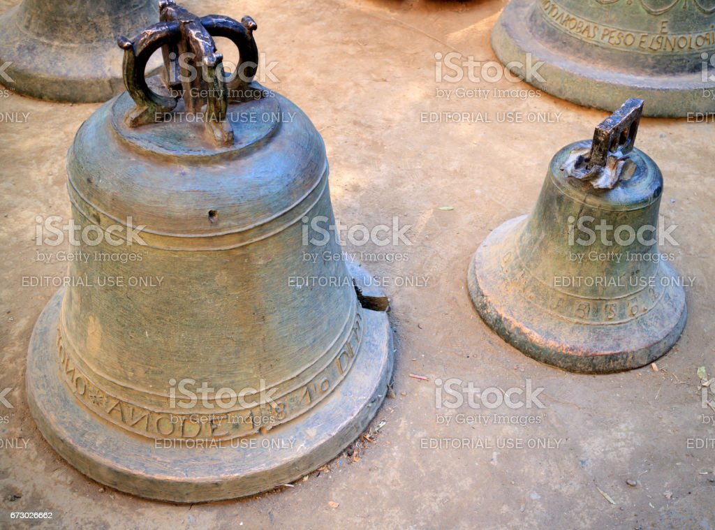 Ancient bells stock photo
