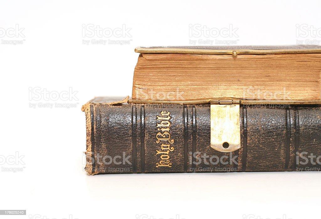 Ancient Bibles stock photo