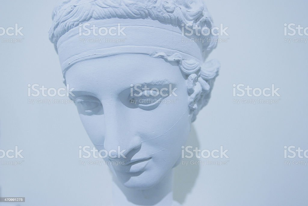 Ancient blue face royalty-free stock photo